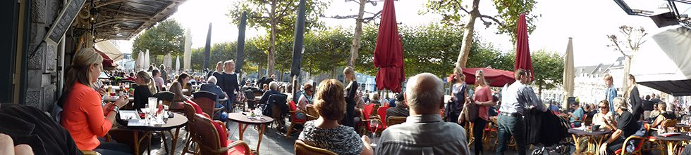 people watching in Maastricht