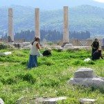 working at Ephesus, Turkey