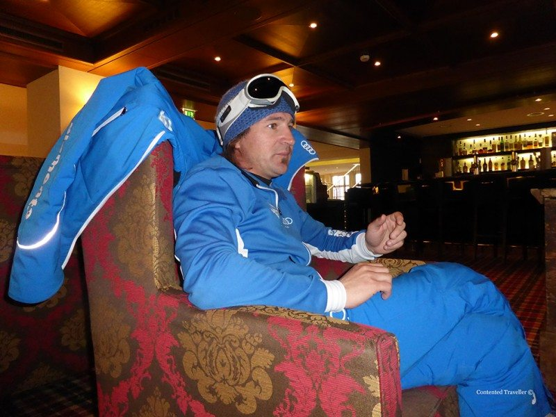 A lovely conversation with our ski instructor in Kitzbuhel