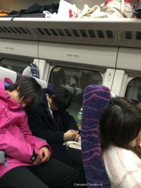 japanese sleeping in train