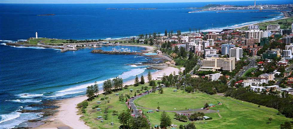 Wollongong and the village green