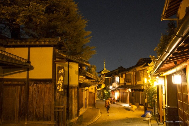 Kyoto enchanting at night