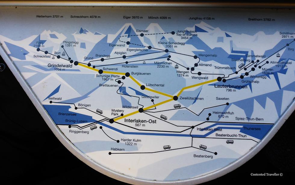 Jungfrau region of switzerland