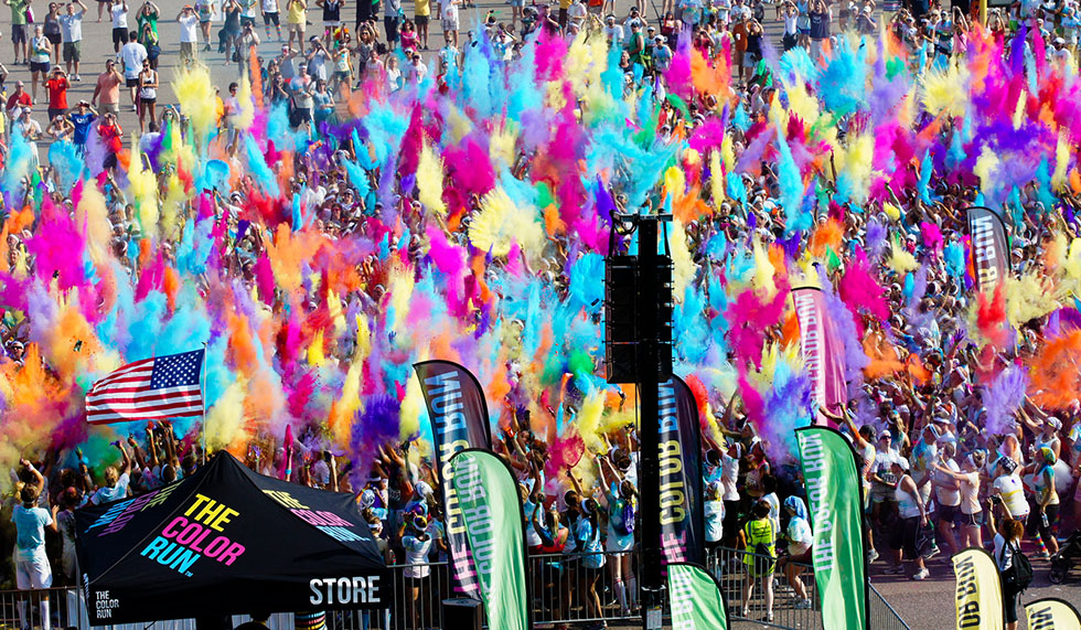 The Color Run Comes To The Village Green In The Gong