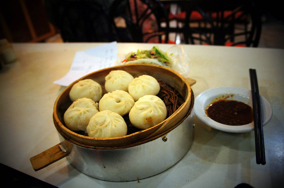 Chinese breakfast baozi