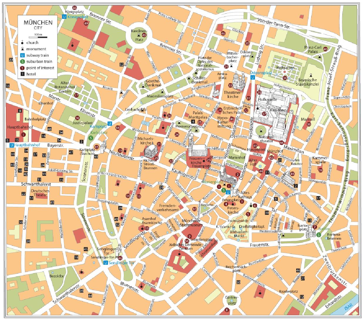A Walking Tour of Munich Contented Traveller – Munich City Map Tourist