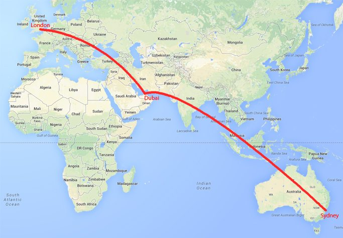 How far away is Australia