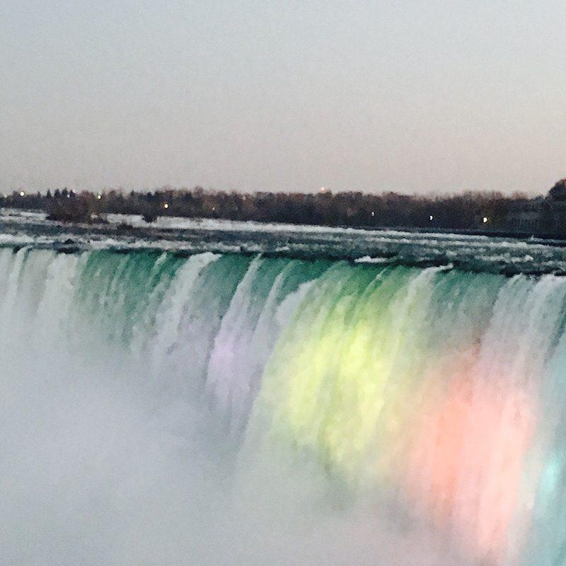 illumination of the falls