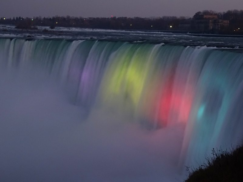 Illumination of the Falls Niagara, ON