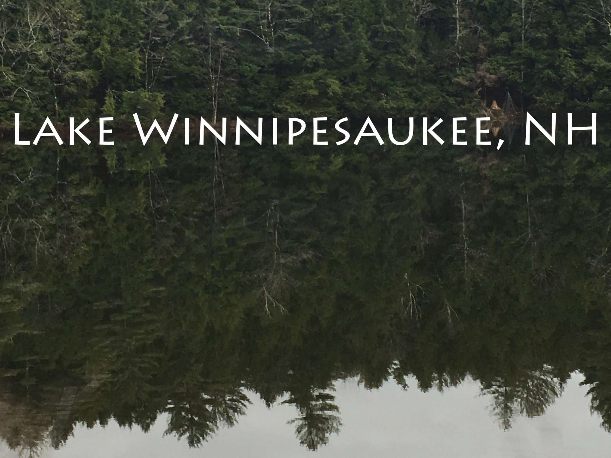 Lake Winnipesaukee in the Lakes Region of New Hampshire