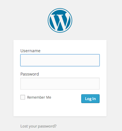 18-WordPress Login