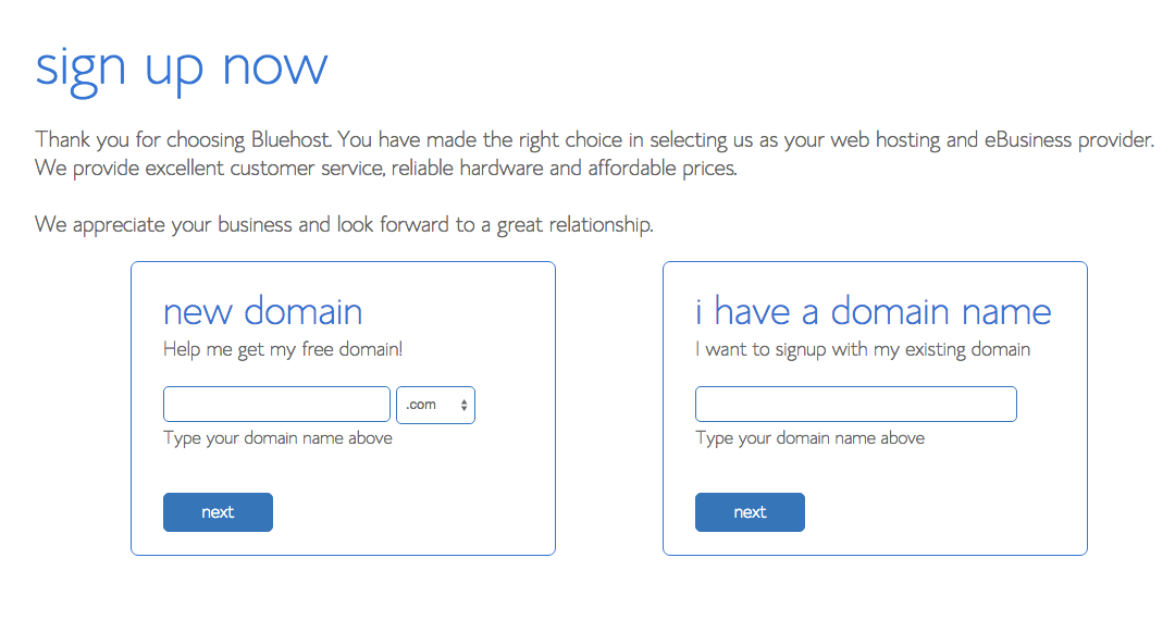 Part 3 – Check to see if your blog name (domain name) is available.