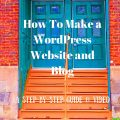 This is a step-by-step guide on How To Make a WordPress Website and Blog, 2016. We have tried to make this easy.