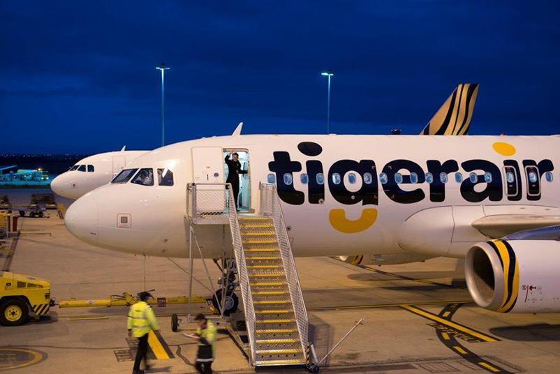 International Flight with Tigerair Australia