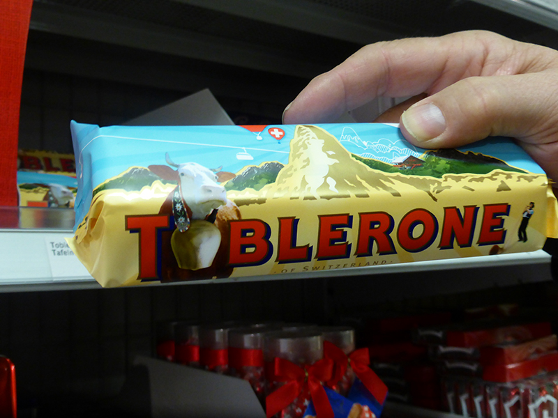 The Matterhorn is the face of Toblerone