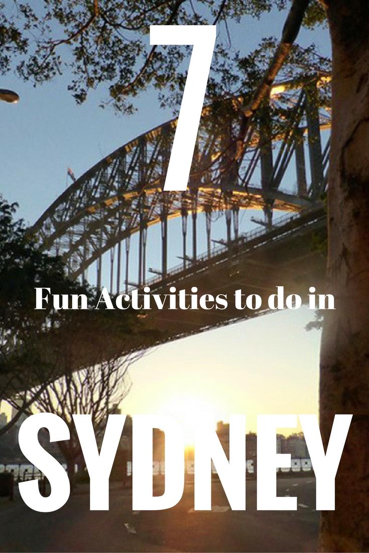 7 Fun Activities to do in Sydney