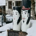 the disjoin statues guard the village of Nozawa Onsen lWeekly Newsletter from Contented Traveller