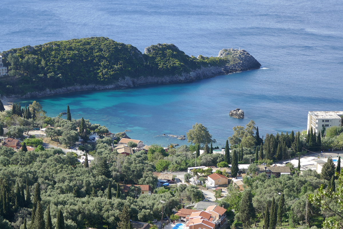 Exploring the island of Corfu in Greece