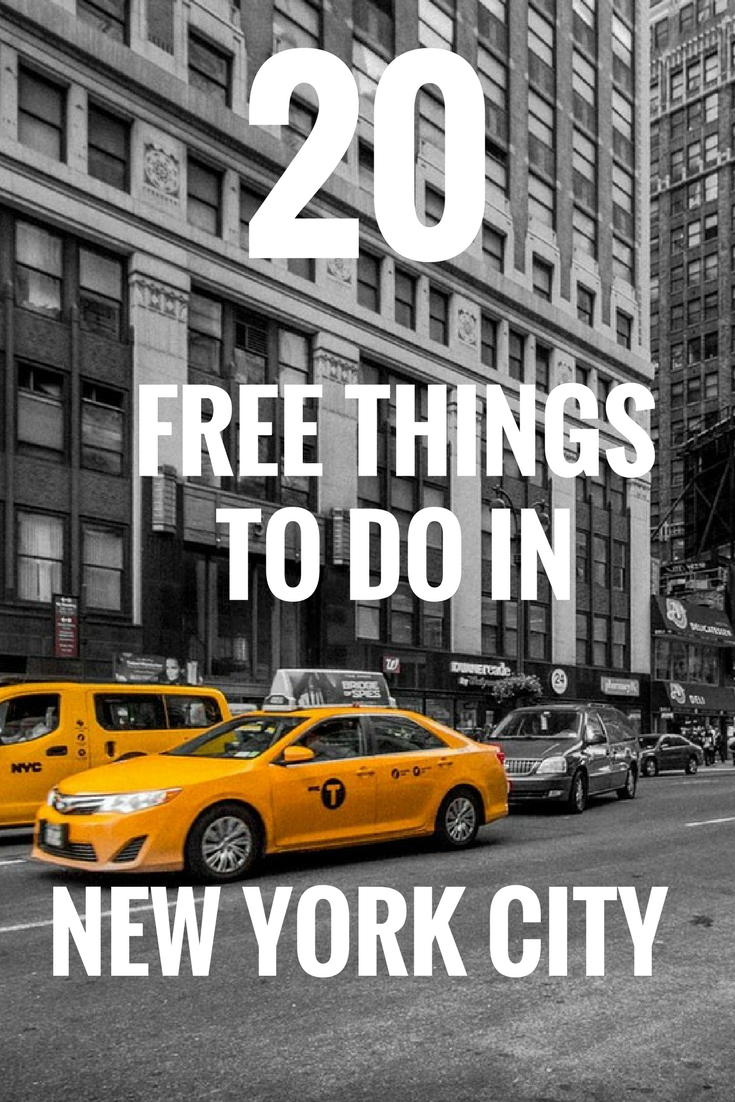 Top 20 free things to do in new york city for Thing to do new york