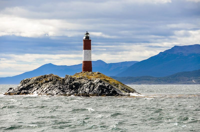 Lighthouse in the Beagle Channel, Ushuaia, Argentina