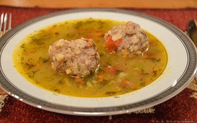 ciorba de perisoare or meatball soup,  from Romania