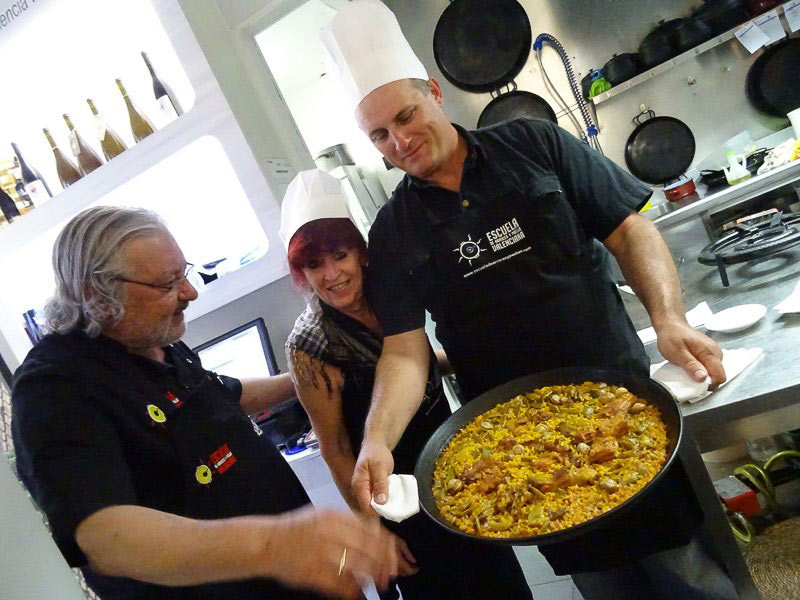 paella graduates in Valencia, Spain